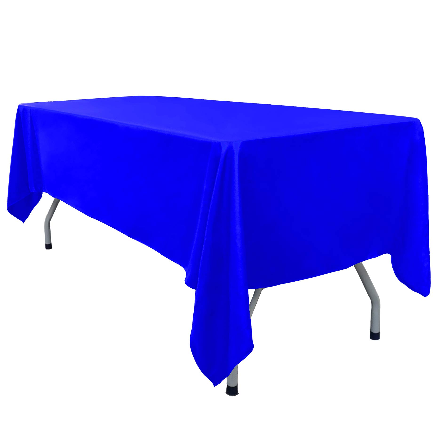 DYX Rectangular Tablecloth - 60 x102 Inch - Nave Blue Rectangular Table Cloth for 6 Foot Table in Polyester - Great for Wedding Restaurant Party Banquet Thanksgiving Reuseable