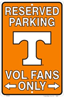 NCAA Syracuse Orange 8-Inch by 11-Inch Metal Parking Sign D/écor