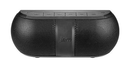 JAM Rave Max Wireless Bluetooth Portable Speaker, 3 Watts, 110V, Splash Proof, Two Woofers and Two Speakers, Compact, Deep Bass, Crisp Tones, Mega Volume, Built-in Speakerphone, HX-P210BK