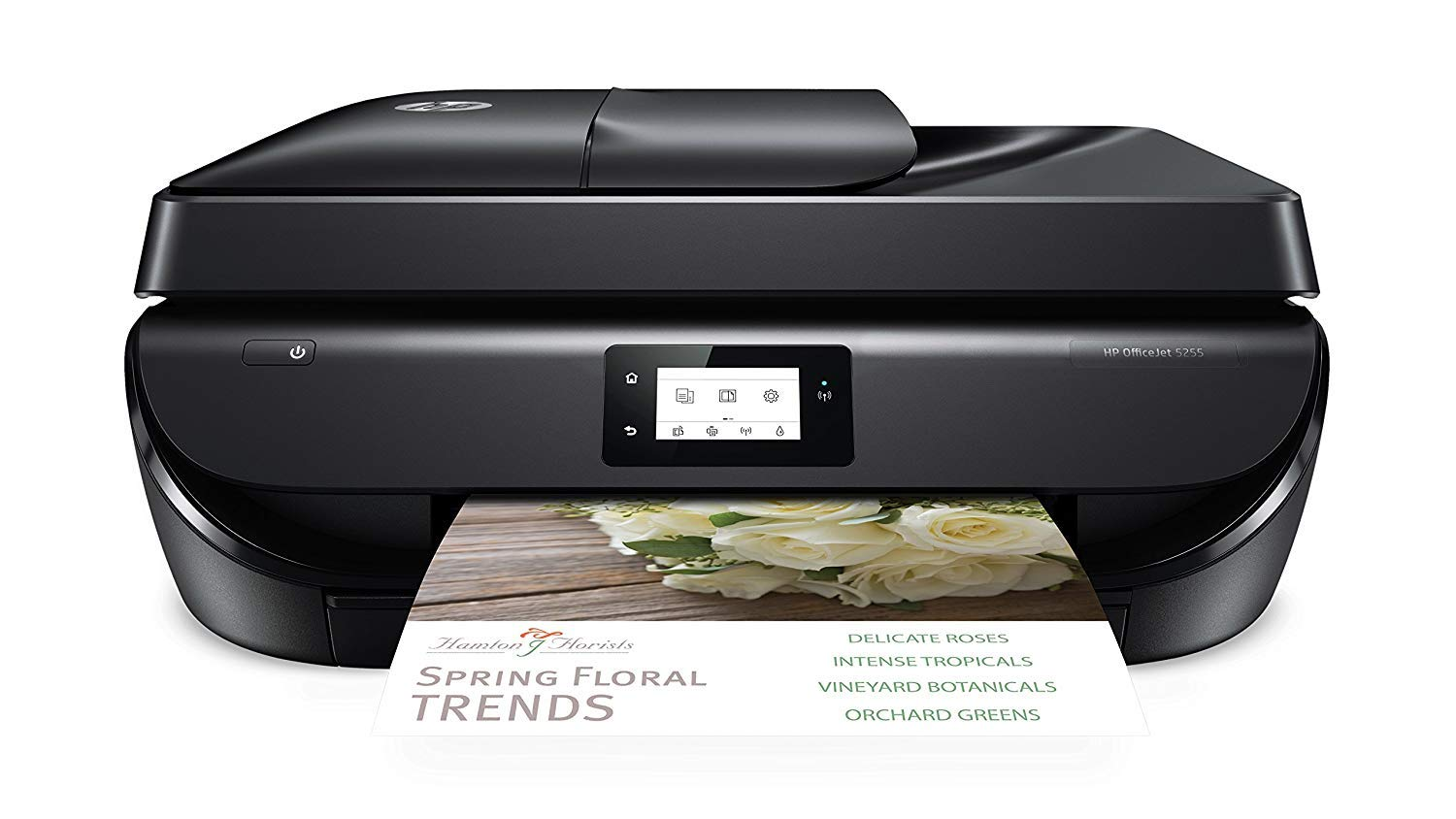 Hp Officejet 5255 Wireless All-In-One Printer, Hp Instant Ink & Amazon Dash Replenishment Ready (M2U75A), Black by HP