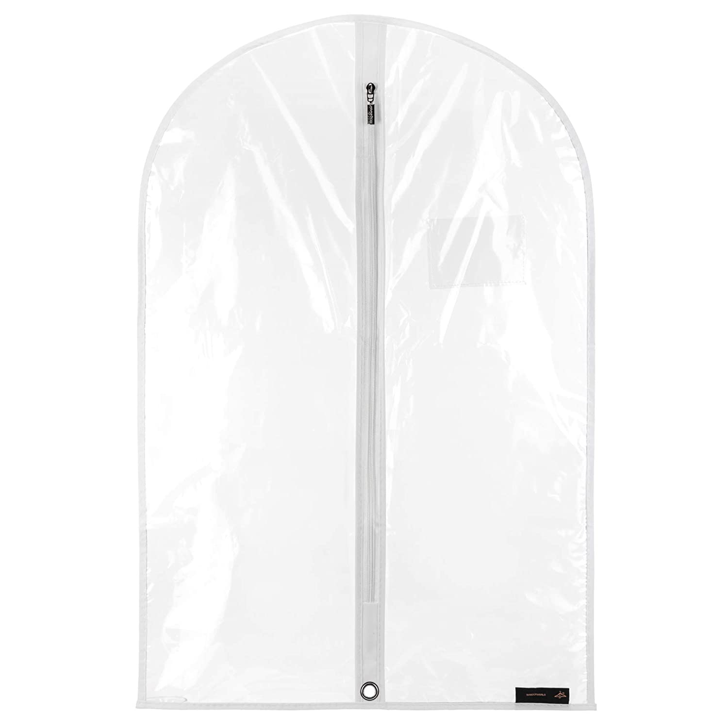 HANGERWORLD 30 Inch Clear Childrens Showerproof Garment Clothes Cover Protector Bag Z-30-PEVA-CLEAR