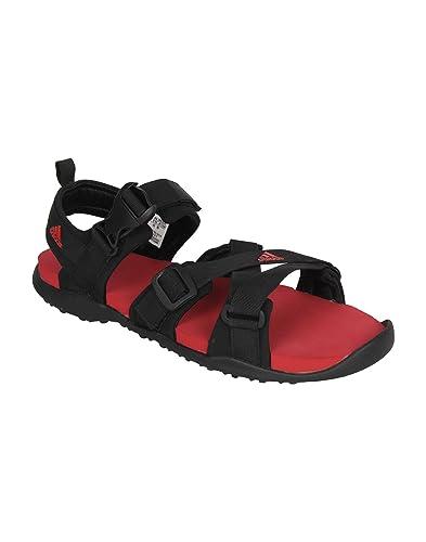 Adidas uomini contento di averti m rosso sandali: comprare online a prezzi bassi nei