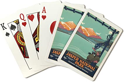 Amazon Com Jasper National Park Vintage Poster Artist Anonymous Canada C 1927 Playing Card Deck 52 Card Poker Size With Jokers Everything Else