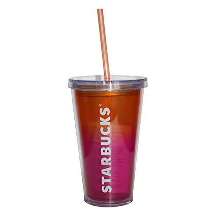 7737c7661ef Starbucks Pink Sunset Cold Cup Tumbler, 473 ml/16 fl oz: Amazon.co ...