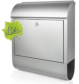 Edelstahl Briefkasten Mit Zeitungsrolle Masse 39 5x14x46cm Original