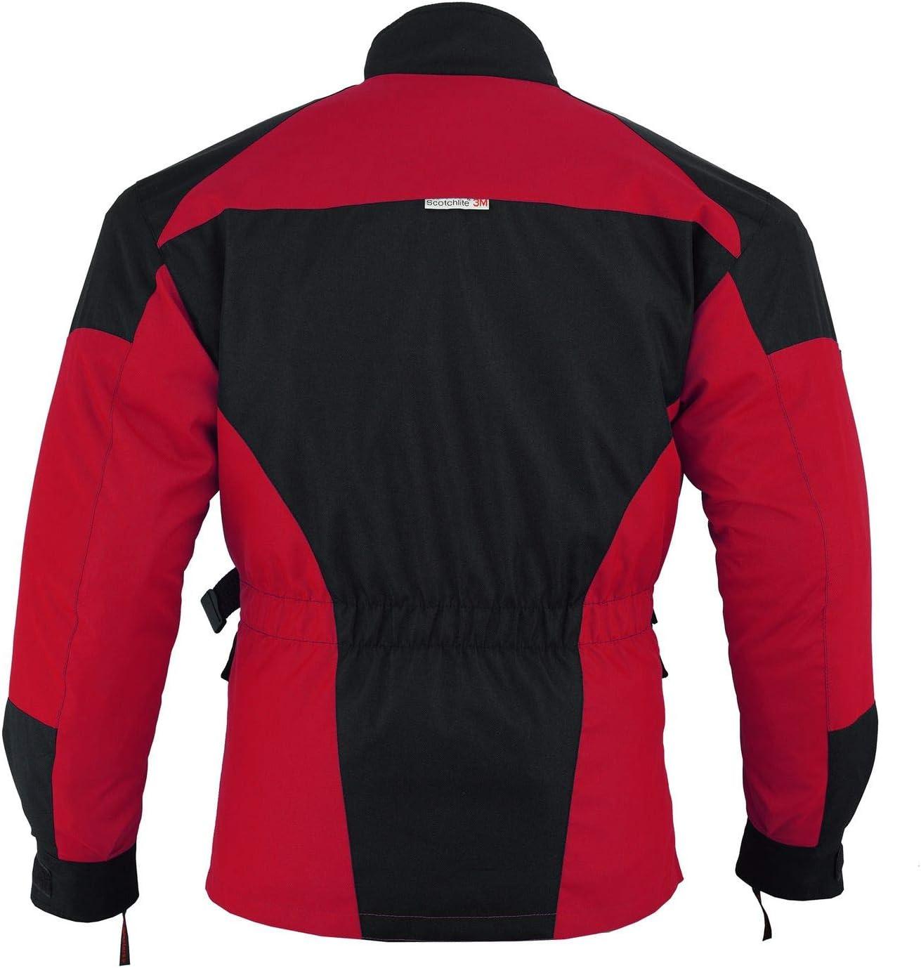 54//XL German Wear 2-teiler Motorradkombi Cordura Textilien Motorradjacke Rot//Schwarz Motorradhose