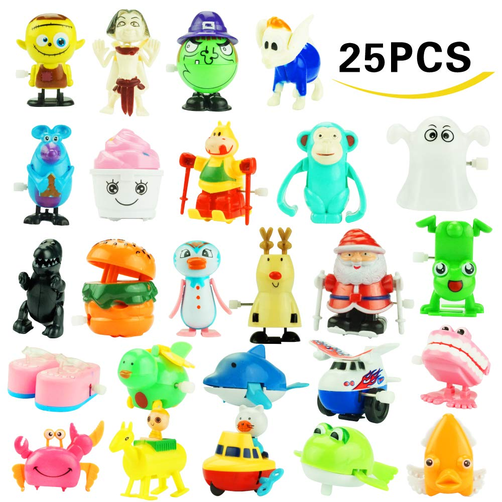 Wind up Toys, 25 Pack Assorted Mini Toy for Kids Party Favors, Birthday Goody Bag Filler Preschool Toy for Boys Girls Children,Gifts Giveaway Pinata Filler Carniva Prizes Classroom Incentive Reward Kissdream