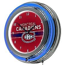 Trademark Gameroom NHL Chrome Double Rung Neon Clock-Montreal Canadiens