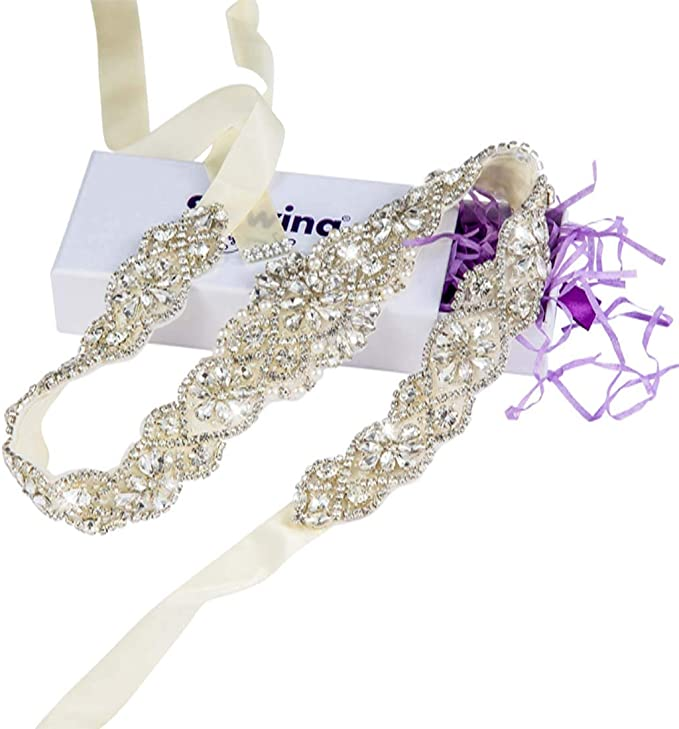 Rhinestone Wedding Dress Purple Accessories