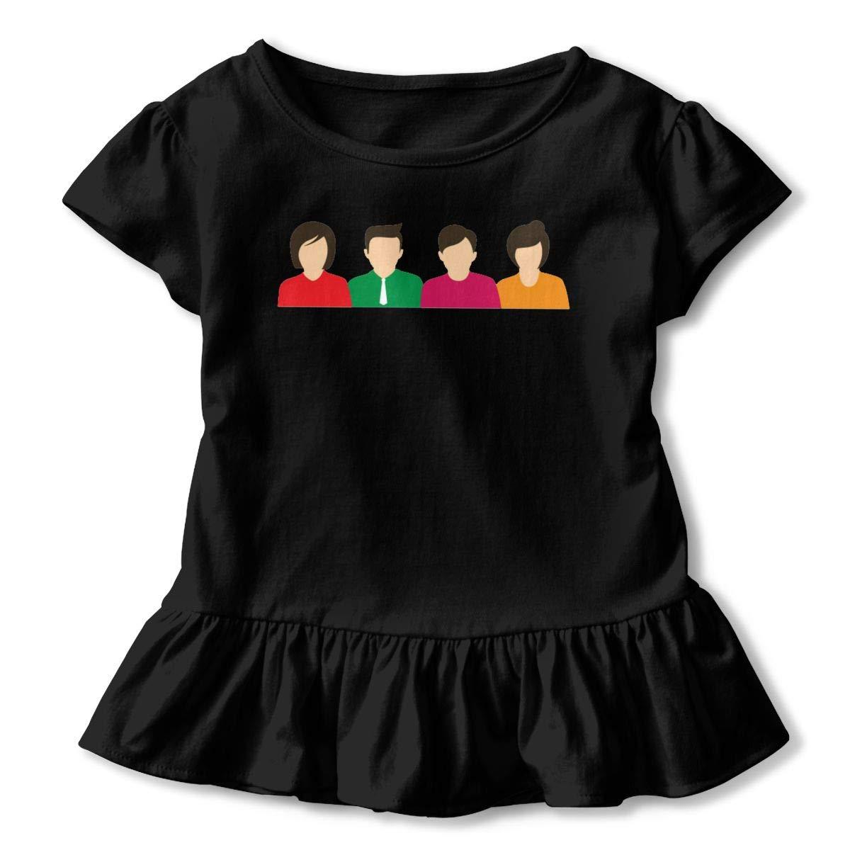 JVNSS Conversation Concept Shirt Fashion Kids Flounced T Shirts Graphic T-Shirt for 2-6T Kids Girls