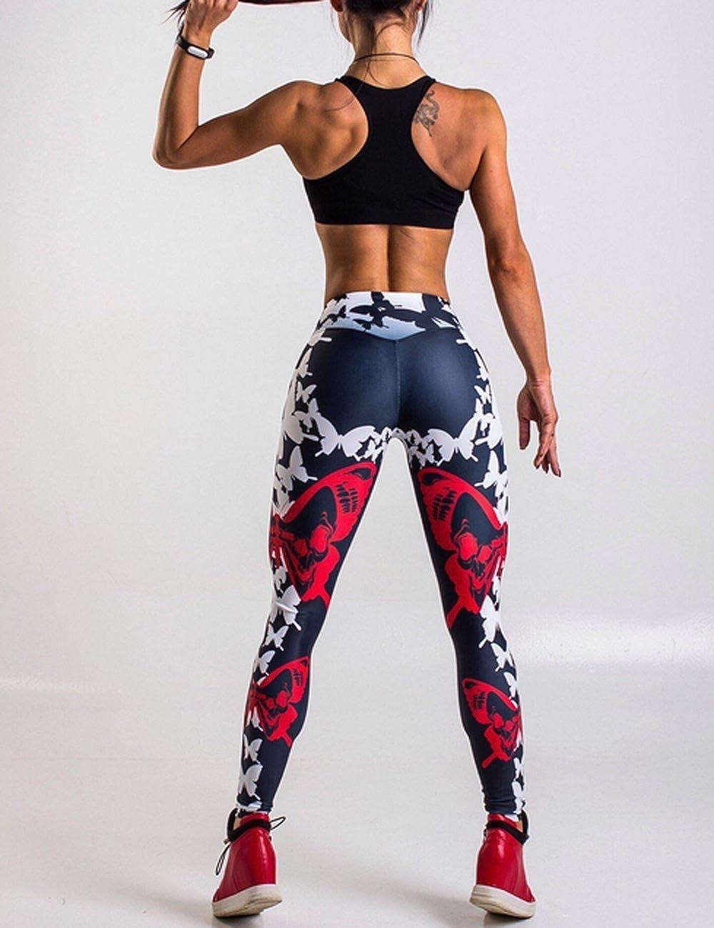 0463ce92f61553 Rachel Charm Womens Yoga Workout Gym Print Sports Pants Leggings Fitness  Stretch Trouser at Amazon Women's Clothing store: