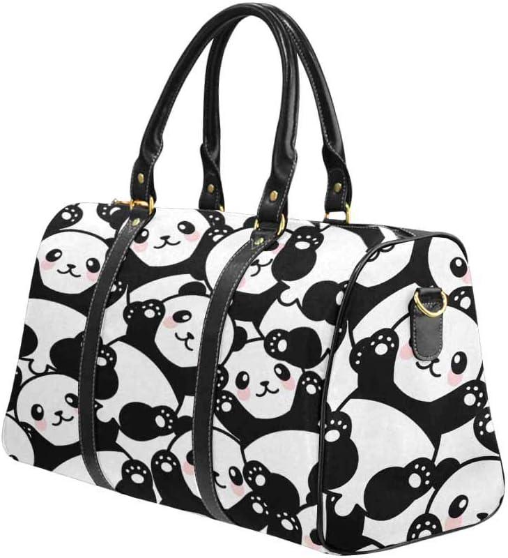 InterestPrint Carry-on Garment Bag Travel Bag Duffel Bag Weekend Bag Panda