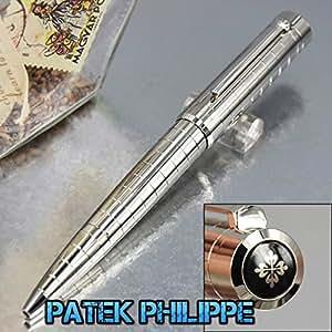 Patek Philippe Quality Silver Metal Barrel Design Luxury Ballpoint Pen