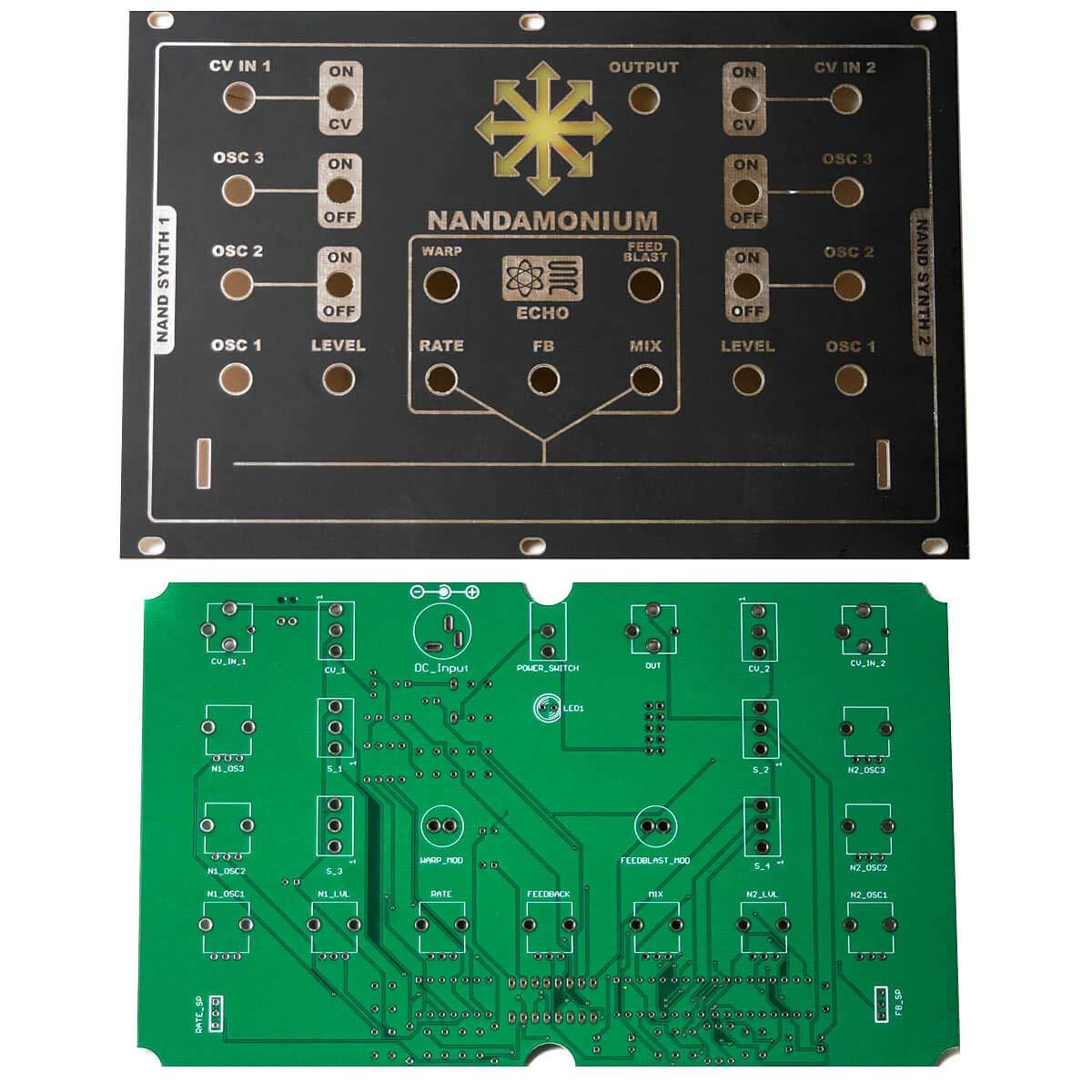 Nandamonium PCB and Panel - Eurorack by Synthrotek