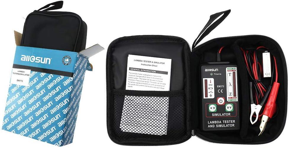 Allsun Lambda Tester & Simulator O2 Oxygen Sensor Automotive Diagnosic Tool Tests Zirconia Titania Lambda Sensors & Ecu Test 1,2,3 und 4 Wires Sensors Durable &Hellip;