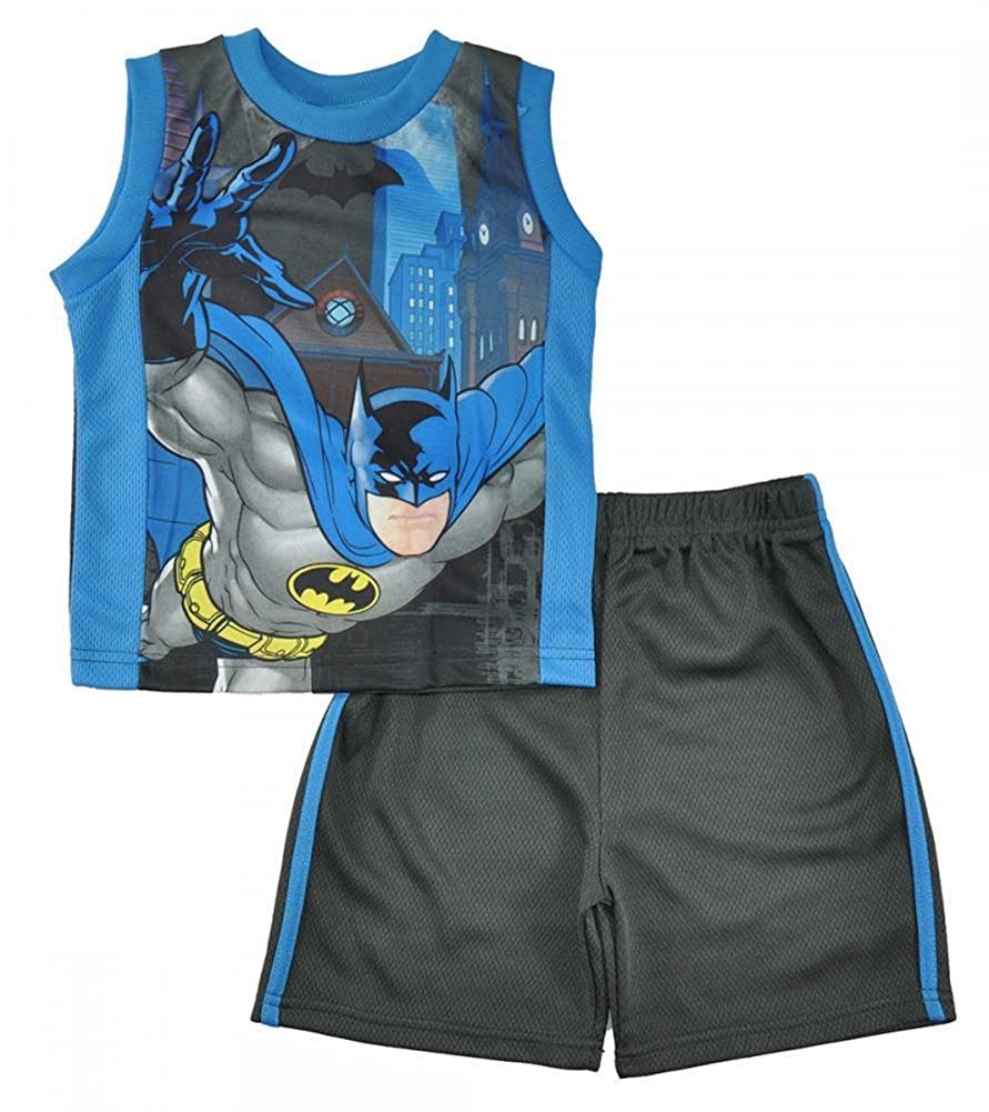Batman Little Boys Black Tank Top 2pc Short Set