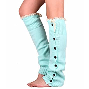 Amazon.de: Frauen stricken Lace Boot Manschetten Socken Tasten Bein ...