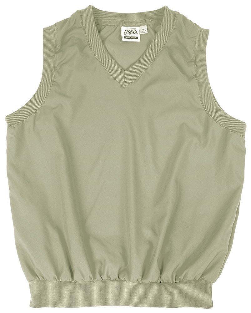 Akwa Made in USA Mens Microfiber Water Repellent V-Neck Pullover Vest