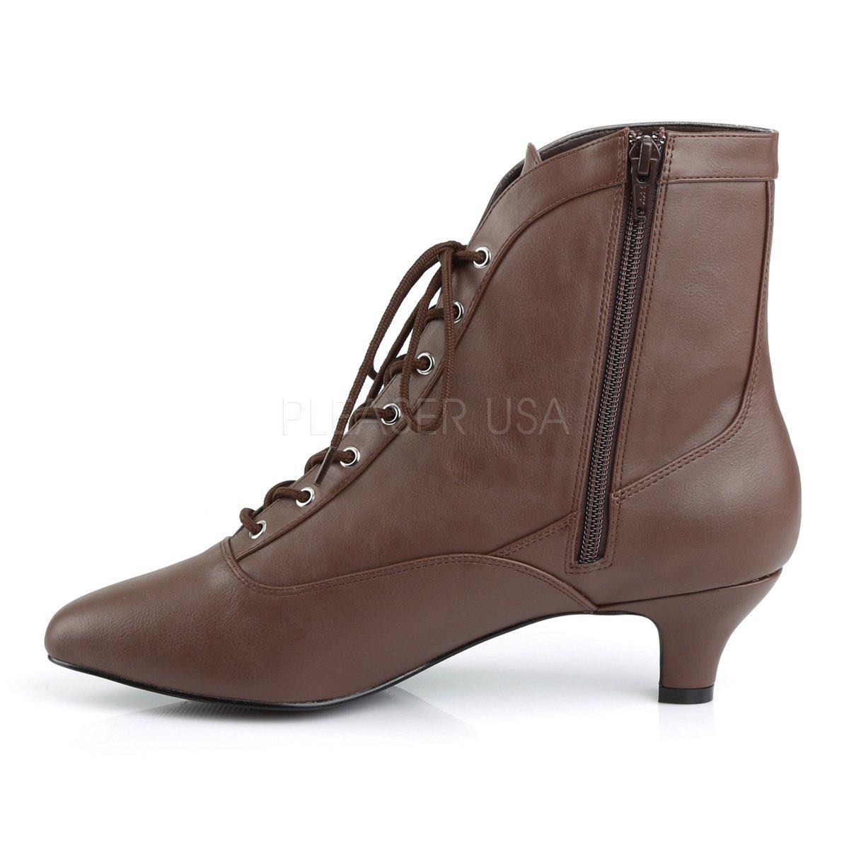 Higher-Heels Rosa Label Big Größe Stiefeletten Stiefelies Stiefelies Stiefelies Fab-1005 braun Übergröße 8bcffb