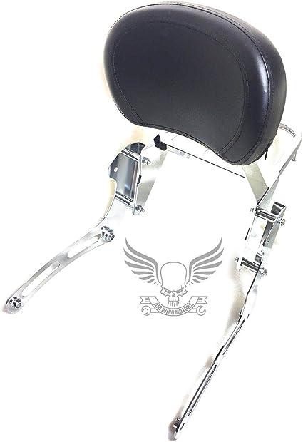 Black Backrest Sissy Bar Luggage Rack For Kawasaki Vulcan VN 900 Classic Custom