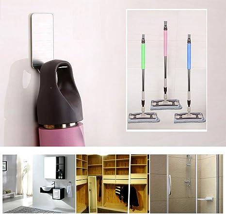 Ganchos autoadhesivos 3M para colgar en la pared, resistentes y pegajosos, sin clavos, reutilizables, juego de 8 ganchos de pared para ropa, abrigos, toallas, llaves, bolsas: Amazon.es: Oficina y papelería