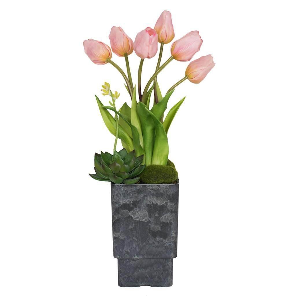 Vickerman F12245 Pink Tulip Everyday Floral by Vickerman (Image #1)