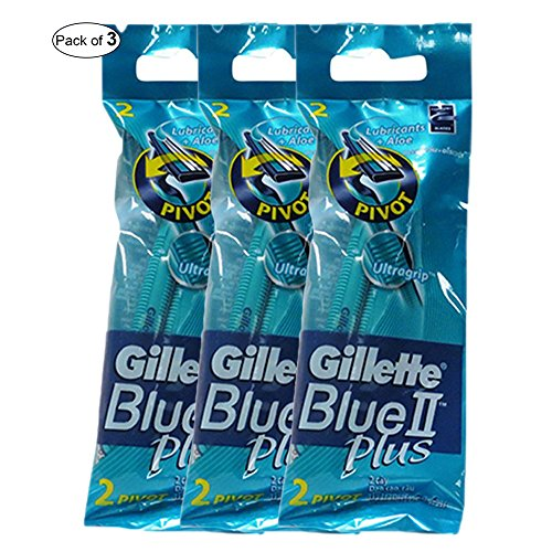 Gillette Blue II Plus Razor Blades 2 In 1 Pack (Pack of ()
