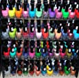 48 Piece Rainbow Colors Glitter Nail Polish Lacquer Set + 3 Scented Nail Polsih Remover