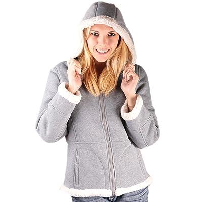 Woodland Supply Co. Women's Sherpa Lined Hooded Fleece Zip Jacket: Books