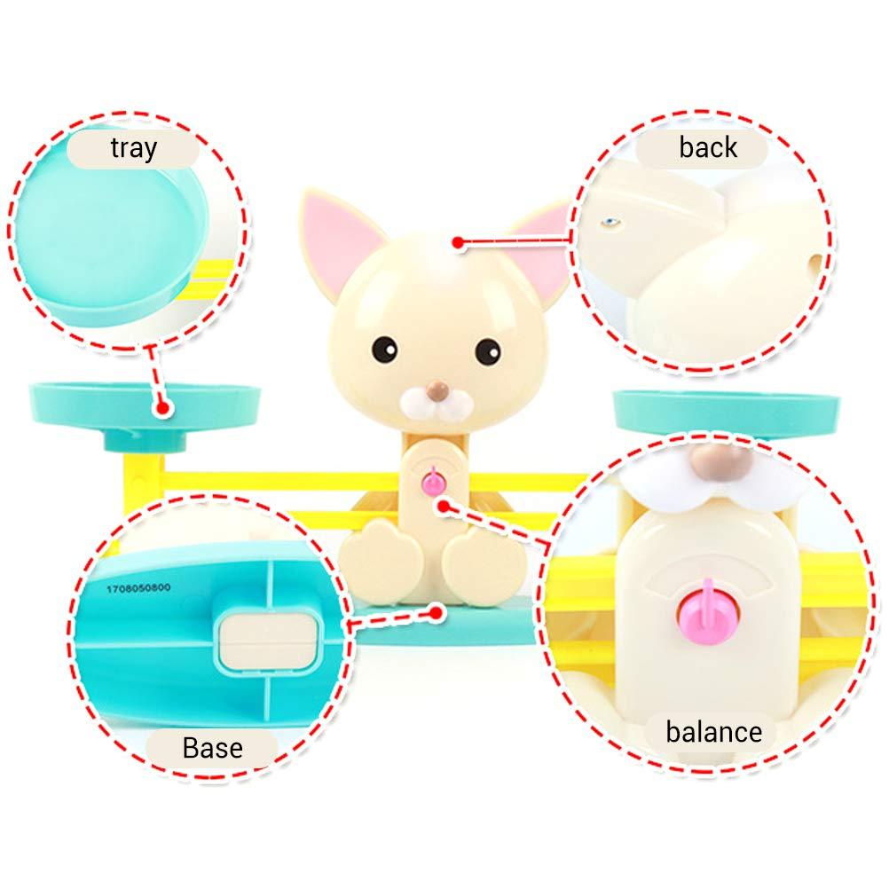 Uyuke 1 Piezas Puppy Balance Digital Scale Number Balance Game Ni/ños Juguete Educativo para ni/ños Ni/ños
