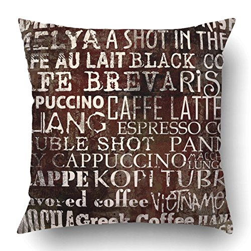 Match Polka Dot Wallpaper (Emvency Pillow Covers Decorative Abstract Grunge Coffee With Grunge Bulk With Zippered 20x20 Square Pillow Case For Home Bed Couch Sofa Car One Sided)