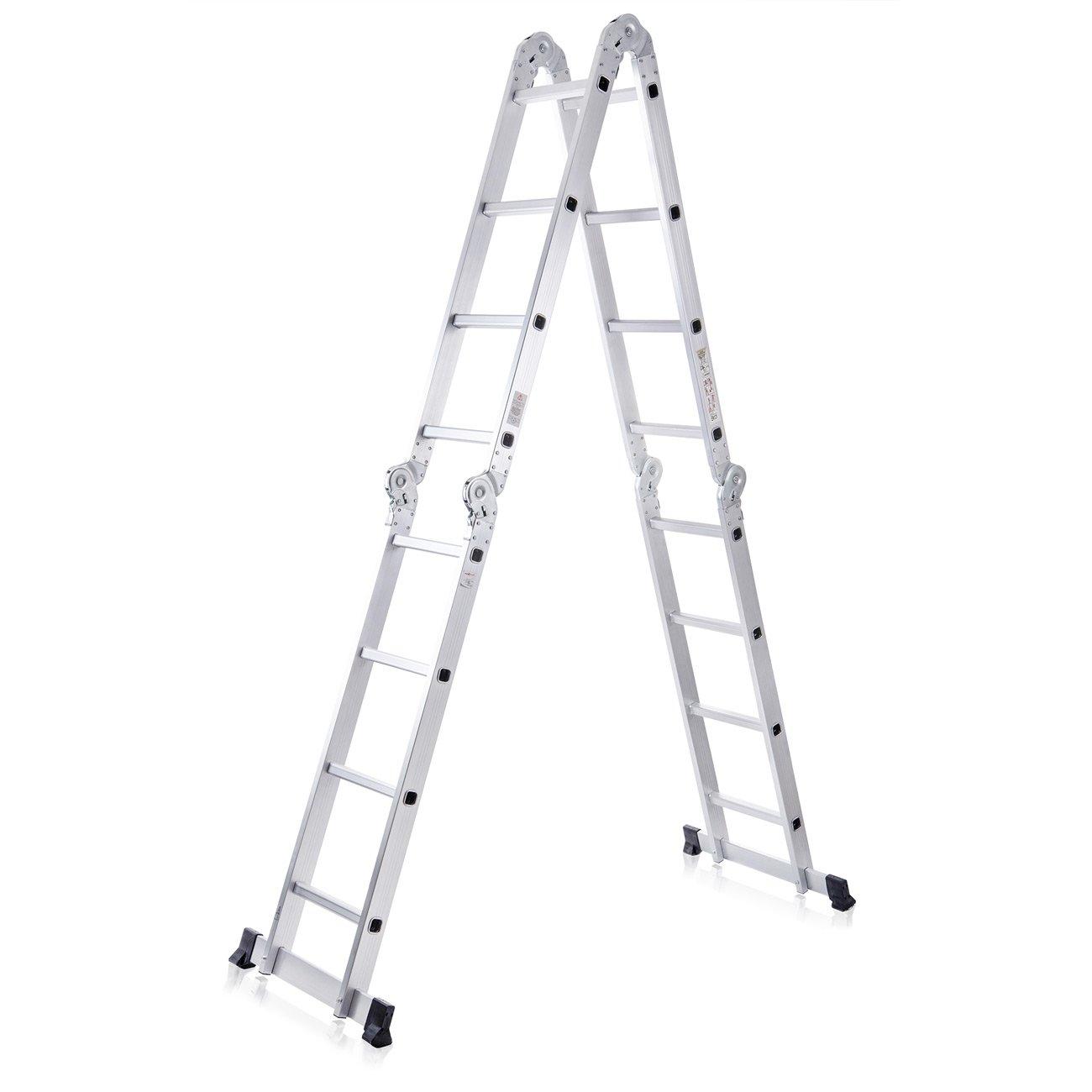 MAXCRAFT 82654489 - Escalera multifunción (multi-propósito) de andamio, ajustable y plegable, 4.75m: Amazon.es: Bricolaje y herramientas