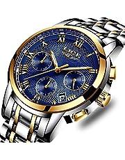 SUNWH Uhren Herren Luxus Marke Chronograph Herren Sport Uhren wasserdicht Edelstahl Quarz Herren-Armbanduhr