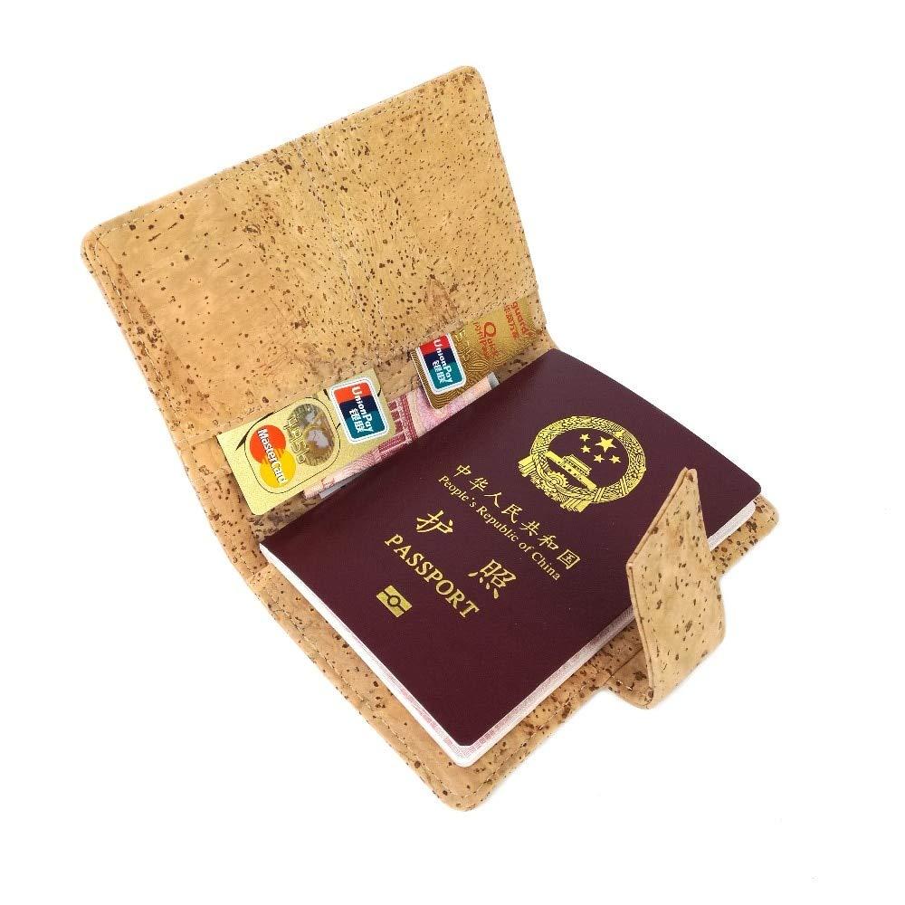 Wood Card Wallet 2019 Trend Rustic Vegan Wine Cork Passport Holder Passport Wallet