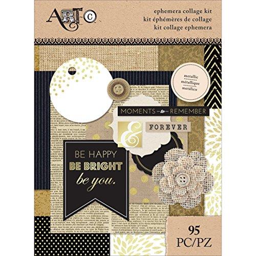 Momenta 25072 Art-C Ephemera Collage (95 Pack), Metallic, Assorted by Momenta