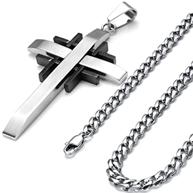 pendant rock peculiarpeople bible gagafeel men standout product punk jewelry male necklace bullet grande christian style steel stainless skull products necklaces cross chain image