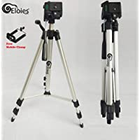 Eloies® Simpex Long Lightweight Professional 333 Aluminum 58 inches Tripod for DSLR Camera Gopro Action Digital Cameras Free Mobile Tripod Holder