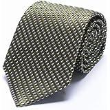 [トムフォード] ネクタイ イタリア製 織 柄 メンズ シルク100% グリーン ブラック ホワイト チェック【並行輸入品】