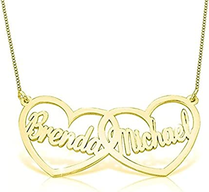 AMDXD Jewelry Gold Plated Mens Womens Pendant Necklace LETTER Shape Cowhide