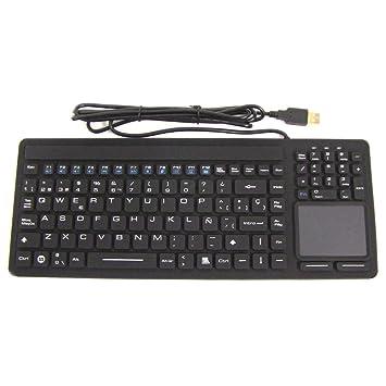 Cablematic Teclado industrial USB de 116 teclas con mousepad y negro: Amazon.es: Electrónica