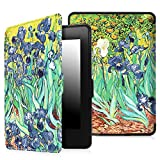Fintie SmartShell Case for Kindle Paperwhite - The Thinnest and Lightest PU Leather Cover Auto Sleep / Wake for All-New Amazon Kindle Paperwhite (Fits All 2012, 2013, 2015 and 2016 Versions), Irises