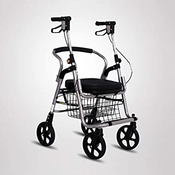 Olydmsky Carrito de Compras para Ancianos, Carrito para Ancianos, Carrito de Compras de Cuatro