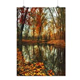 Late Autumn Tree Fall Brown Park Matte/Glossy Poster A4 (9x12 inches) | Wellcoda
