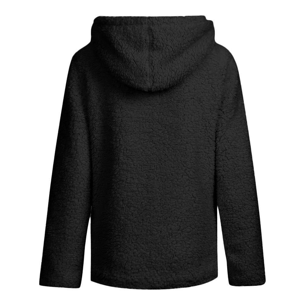 Black,S iYBWZH Women Color Long Sleeve Open Stitch Coat Faux Fur Cardigan Hooded