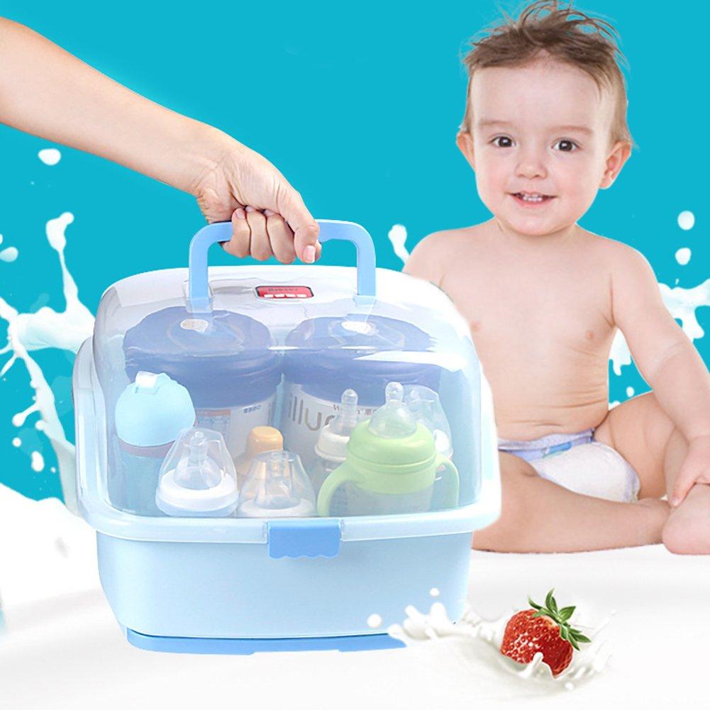 und Kleinkindflaschen Babyflasche W/äschest/änder HalterTragbare Stillflasche Aufbewahrungsbox mit Anti-Staub-Abdeckung Zum Trocknen von Baby Nippeln und F/ütterungszubeh/ör