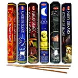 AurAmbiance Spooky Incense Sticks Set; Metaphysical Wiccan Altar Supplies Kit of Insences Sticks