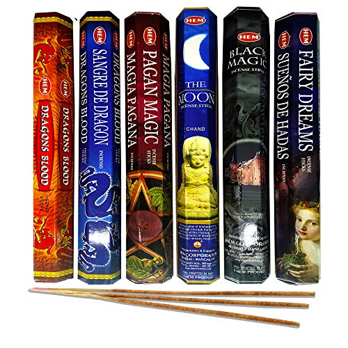 AurAmbiance Pagan Magic Incense Sticks Set; Witchcraft Supplies and Insences Tools for Wiccan -