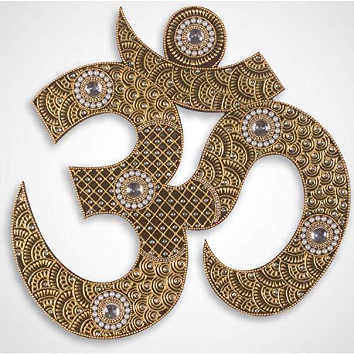 (Boho Decor - Bohemian Decor for Yoga Room - Handmade Indian Om Wall Hanging for Living Room)