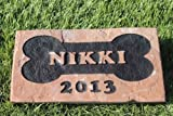 Sandblast Engraved Red Stone Pet Memorial Headstone Grave Marker Dog Cat bon 4x8