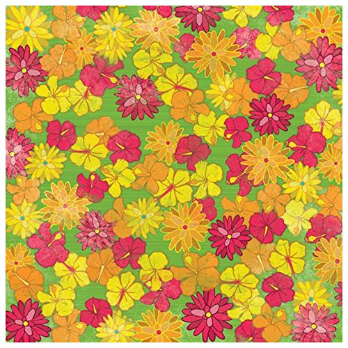 (KAREN FOSTER Design Scrapbooking Paper, 25 Sheets, Tropical Flowers, 12 x 12)